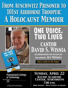David Wisnia and Avi Penn College Event April 22 2018 Poster