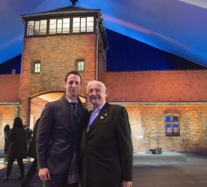 David Wisnia and grandson Avi Wisnia at Auschwitz 70