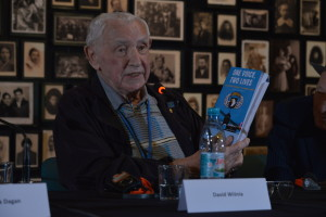 David and Book at Auschwitz Panel first night