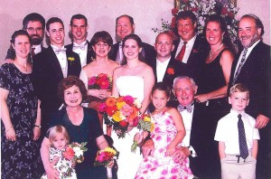 Wisnia Family at Sara & Matt Wedding 2003