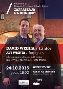 low res David S. Wisnia & Avi Wisnia Koncert Fabryka Trzciny Warsaw Poland poster Oct 2015